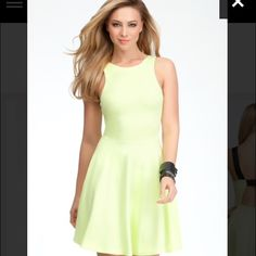 Bebe green ponte fit flare dress Size s Worn once and dry cleaned bebe Dresses Midi
