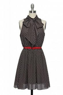 Bow Baby Bow Dress in Navy