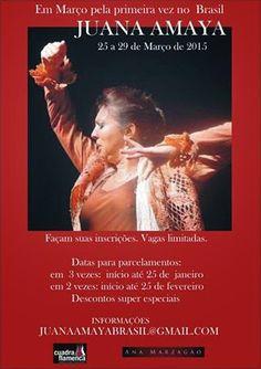 El Cajón Flamenco: Juana Amaya pela primeira vez no Brasil em março