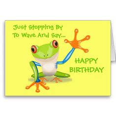 Happy Birthday Mom Cards | cute frog funny animal kids happy birthday card greeting card ...