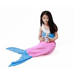 Babylian Mermaid Tail Blanket, Super Soft Crystal Velvet Blanket for Kids, Perfect Gift for Kids and Teens (Ages 3-12) in All Seasons (pink) *** Click image for more details.