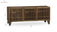 "Marin Natural 58"" Media Console in TV Stands & Media Consoles 