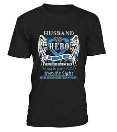 Husband Is My Guardian Angel Shirt husband In Heaven