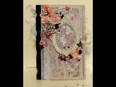 Shabby Chic, CHUNKY Journal using the Rose Quartz Collection from Prima.