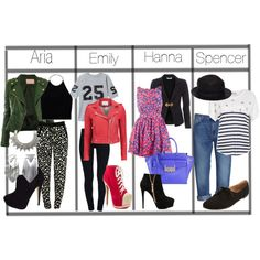 """""""Pretty Little Liars Outfits"""" by luckymoon on Polyvore"""