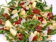 Ensalada de rúcula y manzana con vinagreta de miel. #ensaladas #salads