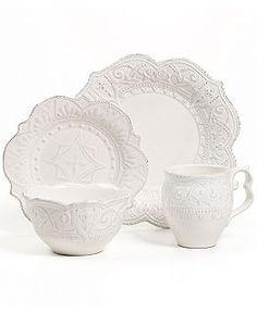 30-Pc Porcelain Auroroa Dinnerware Set on OneKingsLane.com | Tableware | Pinterest | Dinnerware and Tablewares  sc 1 st  Pinterest & 30-Pc Porcelain Auroroa Dinnerware Set on OneKingsLane.com ...