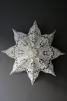 Doily paper star.