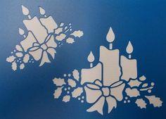 Christmas Candles Stencil by kraftkutz on Etsy
