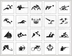1964年東京五輪で使用されたピクトグラム 画像引用:http://gigazine.net/news/20100903_olympic_pictograms/