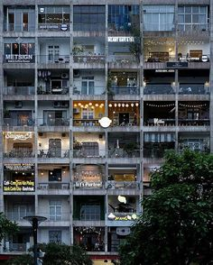 The Cafe Apartment / Vietnam This cafe apartment in vietnam is programed in abandoned building. If society wants to develop public safety or neighborhood, don't tare apart building just renovate it. #iiturbanism #week6