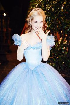 "Beautiful Lily James as Cinderella. I've also been watching ""Downtown Abbey"" and she's adorable in the role of a would-be bad girl."
