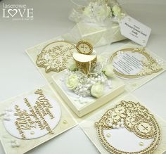 Laserowe LOVE: Exploding box z okazji Komunii / Exploding Box for the Communion Laser Art, Exploding Boxes, Explosion Box, Chipboard, Place Cards, Scrapbooking, Place Card Holders, Handmade, Bag