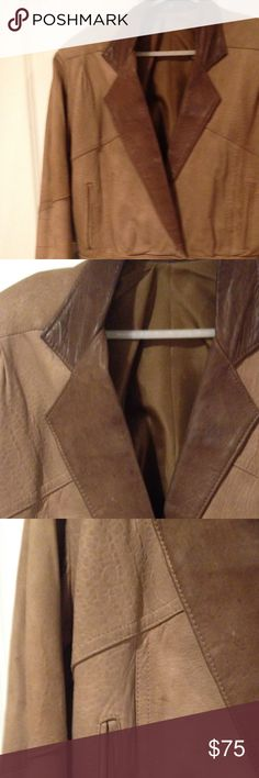 Brown Leather short jacket Sz S Brown Leather short jacket Sz S Other