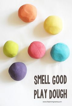The BEST DIY no cook play dough recipe! Smells great and lasts so long!