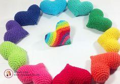 Corazones #Diy #Crochet #Amigurumi