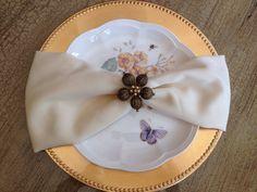 Set Of 10 Napkin Ring ,Beaeded Flower Napkin Holder