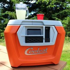 Greatest cooler ever. Comes complete with a bottler opener, a blender, and a phone charger.