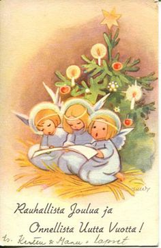 """It means """"Peaceful Christmas""""  & """"Happy New Year""""  (Rauha = peace, rauhallinen = peaceful, and rauhallista is a form needed in this case when you are wishing someone for example peaceful Christmas... And Joulu is Christmas as already pointed out, Joulua is again the form needed in this case)."""