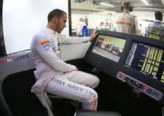 Lewis Hamilton in the McLaren garage [Picture: Vodafone McLaren Mercedes] - photo 21