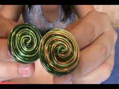 anillos de alambre de aluminio de colores