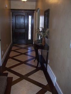 Hardwood with tile integrated
