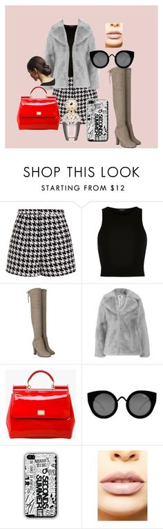 """Go to outfit -winter edition"" by dzenita-219 on Polyvore featuring Emma Cook, River Island, Jakke, Dolce&Gabbana, Quay, LASplash, Marc Jacobs, women's clothing, women's fashion and women"