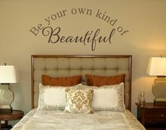 What a great sentiment to wake up to! Vinyl Wall Lettering is SO awesome. This one is from www.tradingphrases.com