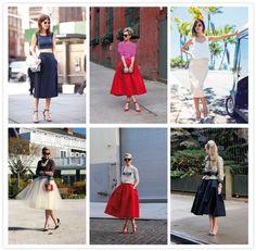 Cómo combinar faldas midi