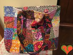 Designer Travel Tote Bag. Made with Kaffe Fassett Fabrics. One of a Kind. by FayCarrieQAOT on Etsy