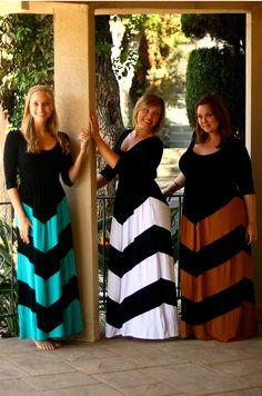 The perfect #chevron #maxidress for #fall