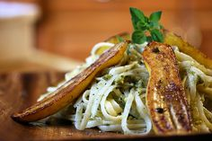 Garlic Scape Pesto and Pan Seared Summer Squash Summer Squash Pasta, Baby Squash, Whole Food Recipes, Vegan Recipes, Soup Recipes, Garlic Scape Pesto, Best Party Food, How To Make Pesto, Mac And Cheese Homemade