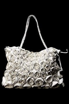 Valentino - Leather Rose Bud Bag in White. LOVE!