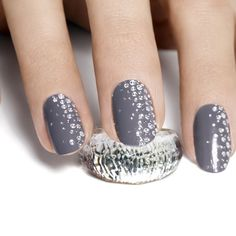 Add a bit of bling to your nails by applying some sparkly gems to a block nail colour, or apply it all in one go with these pre-done nail transfers from Essie.com