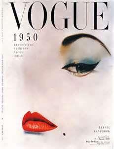 #1950's Makeup: cover of vogue magazine 1950