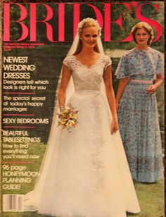 Wondering and Wandering: Wedding Magazines. Antique Wedding Dresses, Vintage Wedding Photos, New Wedding Dresses, Vintage Bridal, Designer Wedding Dresses, Vintage Weddings, Romantic Weddings, Beautiful Wedding Gowns, Magazine Covers