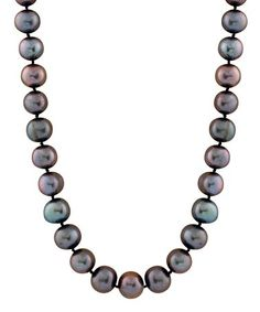 Loving this Black Freshwater Pearl Necklace on #zulily! #zulilyfinds