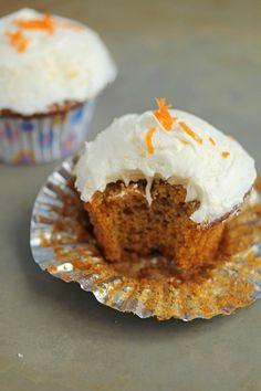 Style Me Pretty Orange Carrot Cupcakes ~ http://www.grandbaby-cakes.com