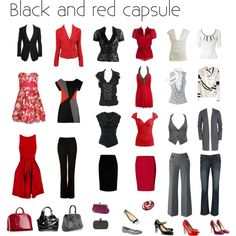 Black & Red Capsule by nofailformula on Polyvore featuring Donna Karan, Forever 21, Dorothy Perkins, Splendid, Wet Seal, Vivienne Westwood Anglomania, Sacai, Star by Julien Macdonald, Arden B. and Junya Watanabe