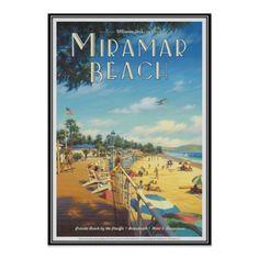 Vintage Miramar Beach, Florida, USA - Poster