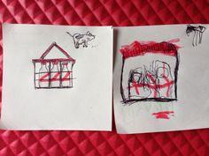 """""""Leche de vaca - leche de caballo"""" pluma sobre bond en una tarde de relajo por René e IO Anzorena #sketch #draw"""