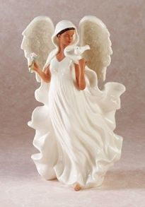 New African American Angel with Dove & Rose Figurine Statue Beautiful Delicate | eBay