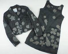 Moschino Cheap & Chic vintage 2 set costume dress jacket floral leaves size Medium -    Edit Listing  - Etsy