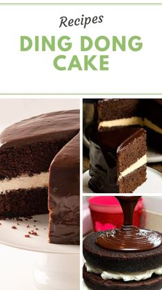 Easy Delicious Recipes, Easy Cake Recipes, Dessert Recipes, Yummy Food, Healthy Recipes, Desserts, Ding Dong Cake, Tasty Videos, Salad Recipes