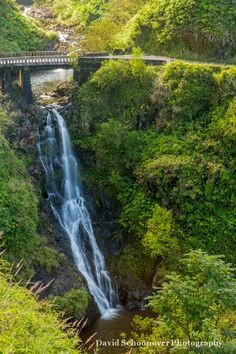 Wailuaiki Lower Falls, just below the Road to Hana, Maui ... David Schoonover Photography