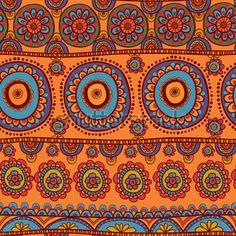 этнические бесшовные шаблон. Индийская орнамент, калейдоскопической Флора шаблон, Мандала. круг, круг, раунд, диск. Африканский абстрактный узор бесшовные