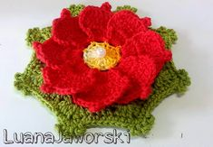 Flor Imperial Crochê | Passo a Passo | Luana Jaworski