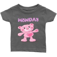 Monday T-shirt (Infants) Infants, Babies, Best Deals, Kids, T Shirt, Clothes, Women, Young Children, Young Children