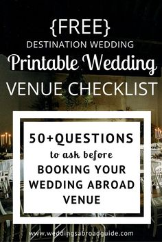 1000 Ideas About Destination Wedding Checklist On Pinterest