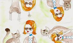 Acuarela y dibujo tipo comic